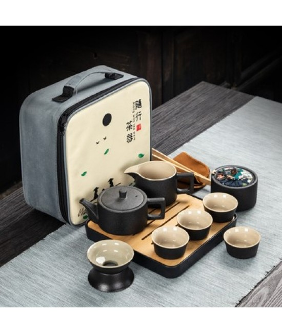 Black Porcelain Travelling Set - D