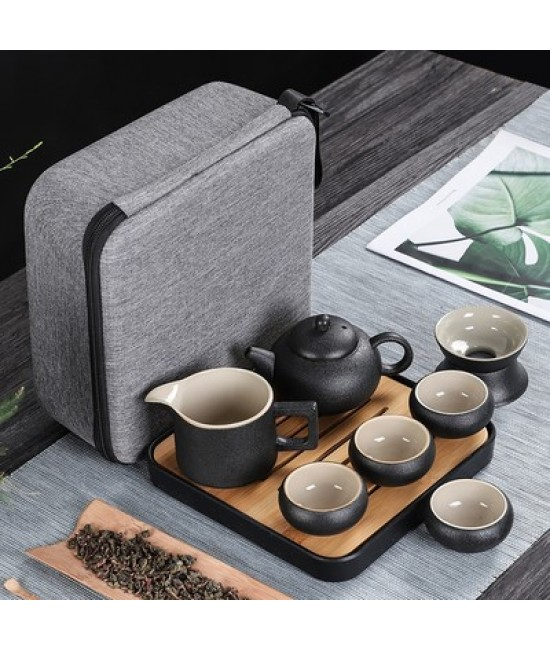 Black Porcelain Travelling Set - E