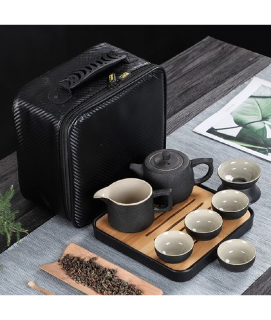 Black Porcelain Travelling Set - F