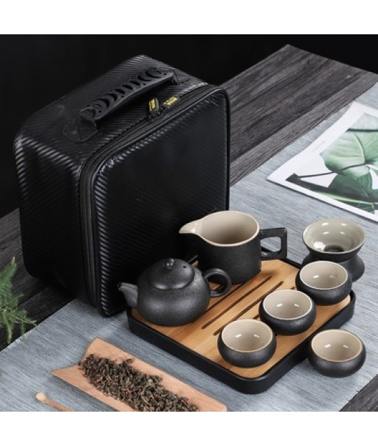 Black Porcelain Travelling Set - G
