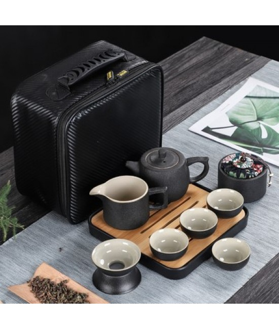 Black Porcelain Travelling Set - H