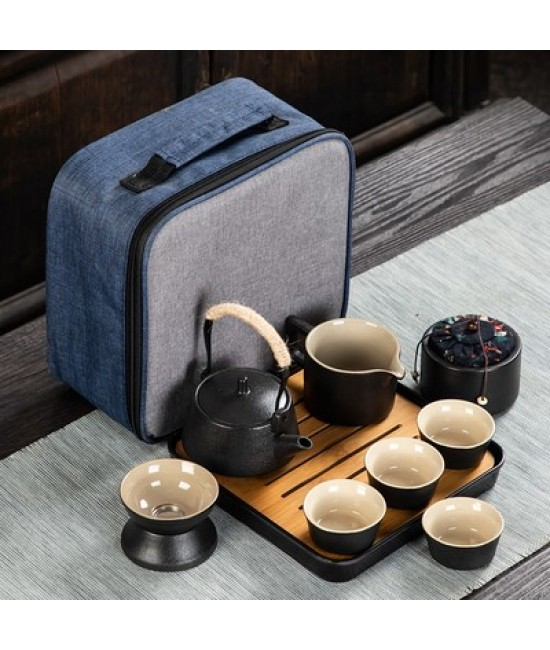 Black Porcelain Travelling Set - I