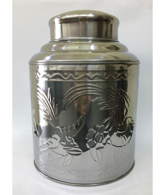 Stainless Steel Tea Caddy - Big