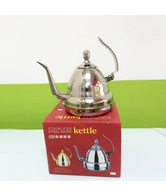 Stainless Steel Long Neck Kettle - Silver