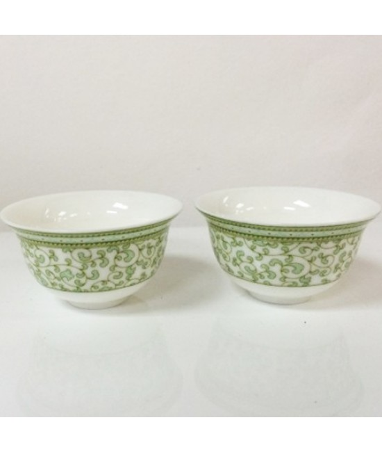 Porcelain - Light Green Flower Cup